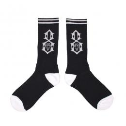 REBEL8 / LOGO SOCKS (BLACK)