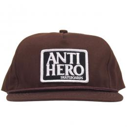ANTI HERO /  RESERVE PATCH UNSTRUCTURED SNAPBACK CAP (BROWN)