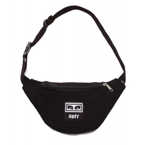 OBEY / WASTED HIP BAG (BLACK TWILL)