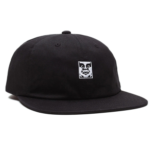 OBEY / ICON 6 PANEL STRAPBACK CAP (BLACK)