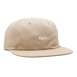 OBEY / JUMBLED 6 PANEL STRAPBACK CAP (KHAKI)