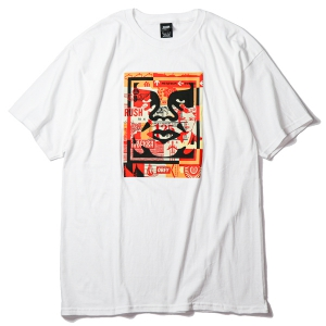 OBEY / OBEY 3 FACE COLLAGE BASIC TEE (WHITE)