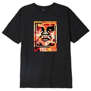 OBEY / OBEY 3 FACE COLLAGE BASIC TEE (BLACK)