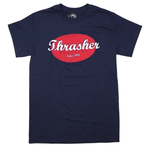 THRASHER / OVAL TEE (NAVY)