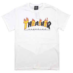 THRASHER / FLAME MAG TEE (WHITE)