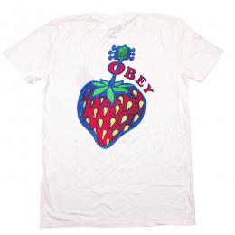 OBEY / STRAWBERRY CLASSIC TEE (OPTIC WHITE)