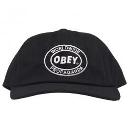 OBEY / VISION 6-PANEL SNAPBACK CAP (BLACK)