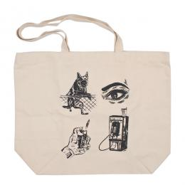 OBEY / TROPICAL CASUALTY TOTE BAG (NATURAL)