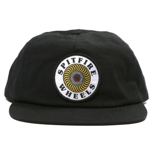 SPITFIRE / OG CLASSIC SWIRL PATCH SNAPBACK CAP (BLACK/WHITE/YELLOW)
