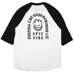 SPITFIRE / STEADY ROCKIN' 3/4 TEE (WHITE/BLACK)