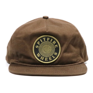 SPITFIRE / OG CLASSIC SWIRL PATCH SNAPBACK CAP (BROWN)
