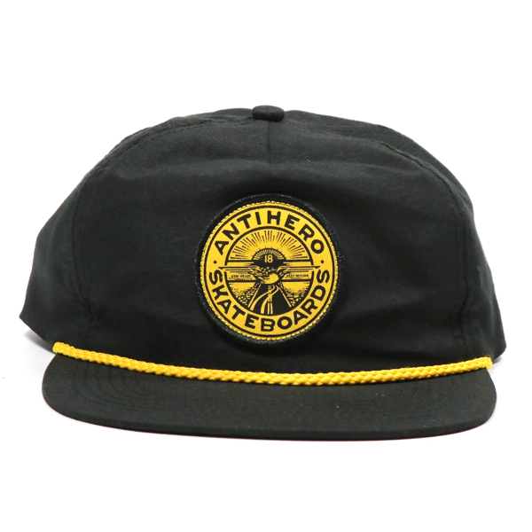 ANTIHERO / STAY READY SNAPBACK CAP (BLACK/MUSTARD)