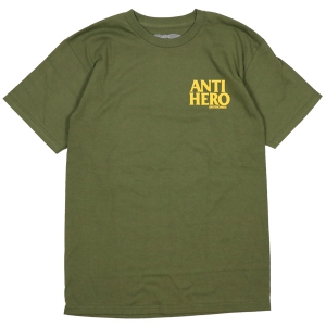 ANTIHERO / LIL BLACKHERO TEE (MILITARY GREEN/YELLOW)