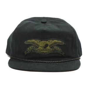 ANTIHERO / STOCK EAGLE PATCH SNAPBACK CAP (BLACK/OLIVE)