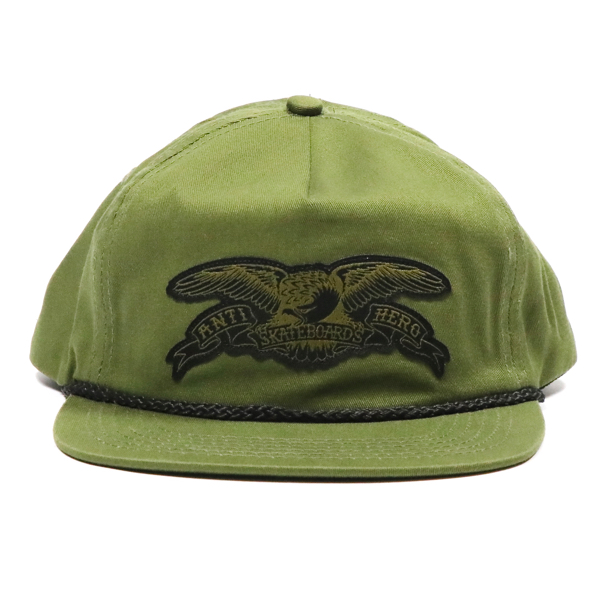 ANTIHERO / STOCK EAGLE PATCH SNAPBACK CAP (OLIVE GREEN)