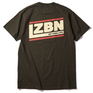 LZBN / SLANT TEE (DARK CHOCOLATE)