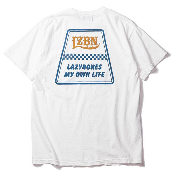 LZBN / TRAPEZOID GARMENT DYED POCKET TEE (WHITE)