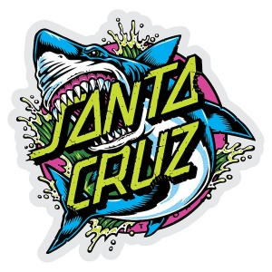 SANTA CRUZ / SHARK DOT STICKER 6""