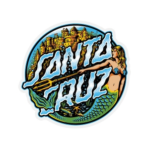 SANTA CRUZ / MERMAID DOT STICKER 3.25""