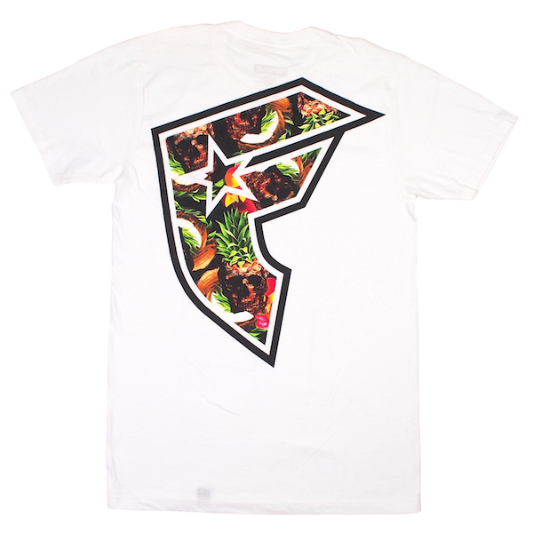 FAMOUS STARS AND STRAPS / PINEAPPLE SKULL BOH TEE (WHITE)