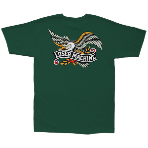LOSER MACHINE / GLORY BOUND STOCK TEE (FOREST GREEN)