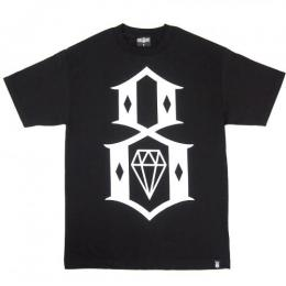REBEL8 / STANDARD ISSUE LOGO TEE (BLACK)