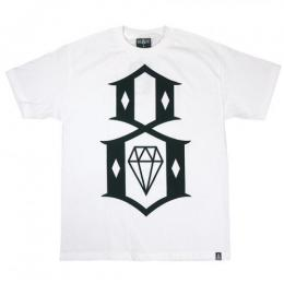 REBEL8 / STANDARD ISSUE LOGO TEE (WHITE)