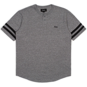 BRIXTON / POTRERO II S/S HENLEY (HEATHER GREY/BLACK)