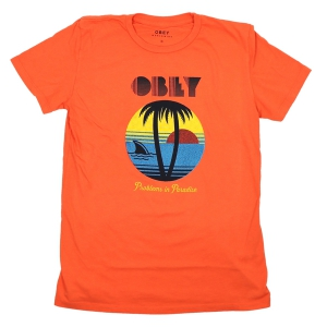 OBEY / PROBLEMS IN PARADISE CLASSIC CREW TEE (GOLDEN POPPY)