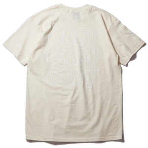 OBEY / OBEY JUMBLED EYES 2 BASIC TEE (NATURAL)