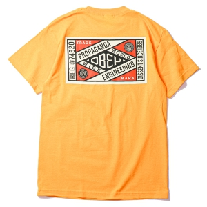 OBEY / OBEY PROP. ENGINEERING BASIC TEE (GOLD)