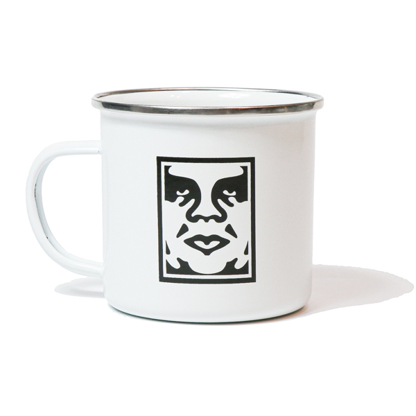 OBEY / ICON STEEL MUG (WHITE)