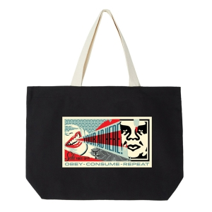 OBEY / YOUR AD HERE TOTE BAG (BLACK)