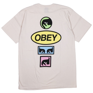 OBEY / OBEY STACKED BASIC TEE (NATURAL)