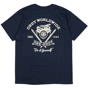 OBEY / OBEY ONE-SHOT BASIC TEE (NAVY)