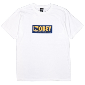 OBEY / OBEY INTERNATIONAL ICON 2 BASIC TEE (WHITE)