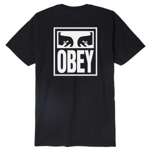 OBEY / OBEY EYES ICON BASIC TEE (BLACK)