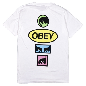 OBEY / OBEY STACKED BASIC TEE (WHITE)
