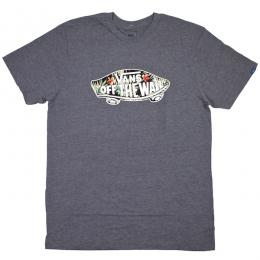 VANS / VANS OTW LOGO FILL TEE (H.GREY/BLACK DECAY PALM)