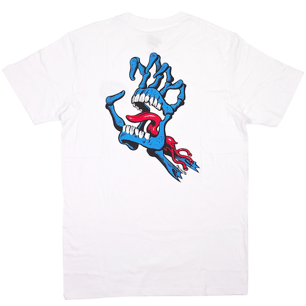SANTA CRUZ / BONE HAND TEE (WHITE)