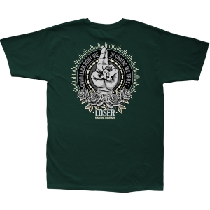 LOSER MACHINE / MANTRA STOCK TEE (FOREST GREEN)