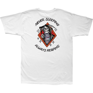 LOSER MACHINE / NEVER SLEEPING STOCK TEE (WHITE)