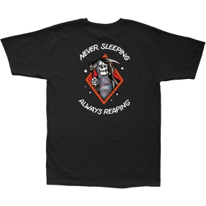 LOSER MACHINE / NEVER SLEEPING STOCK TEE (BLACK)