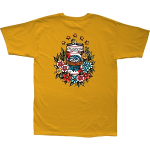 LOSER MACHINE / LMC X PBR TROPICAL STOCK TEE (GOLD)