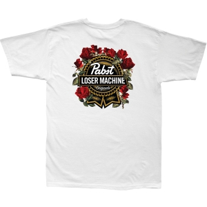 LOSER MACHINE / LMC X PBR FULL BLOOM STOCK TEE (WHITE)