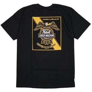 LOSER MACHINE / LMC X PBR CONDOR & RIBBON STOCK TEE (BLACK)