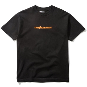THE HUNDREDS / BAR LOGO EMBROIDERY TEE (BLACK)