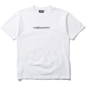 THE HUNDREDS / BAR LOGO EMBROIDERY TEE (WHITE)