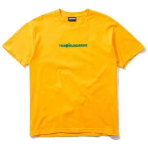 THE HUNDREDS / BAR LOGO EMBROIDERY TEE (GOLD)