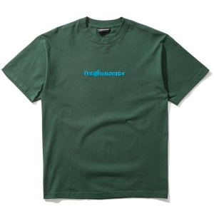 THE HUNDREDS / BAR LOGO EMBROIDERY TEE (FOREST)